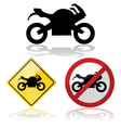 Motorcycle signs vector image