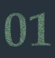 Binary code vector image