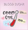 blood sugar vector image vector image