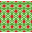 Seamless Christmas Pattern with Poinsettia vector image