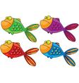 color fish vector image vector image