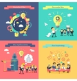 Generation of Ideas Banners Set vector image