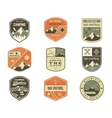 Set of Retro style Ski Club Patrol Labels vector image