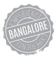 Bangalore stamp rubber grunge vector image