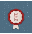 Happy New Year realistic Banner with Ribbon vector image
