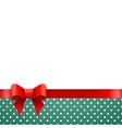 Holiday background blue polka dots with ribbon and vector image
