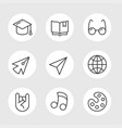 school line icons vector image