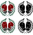 Set of boxer gloves stencils vector image