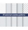 Set of ten subtle seamless patterns vector image