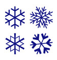 snowflake christmas winter isolated icon vector image