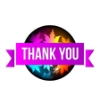 sign Thank You autumn leaves vector image vector image