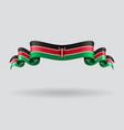 Kenyan wavy flag vector image vector image