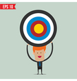 Business man showing target - - EPS10 vector image