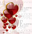 Abstract glossy heart on white vector image vector image