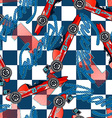 Open wheel racing seamless pattern vector image