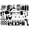 Wine set vector image