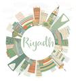 Abstract Riyadh skyline with Color buildings vector image