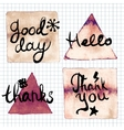 Good day Hello Thank you thanks lettering vector image