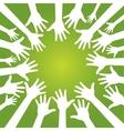 hands in team vector image