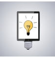 modern computer tablet with idea vector image