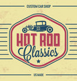 retro hot rod poster vintage design vector image