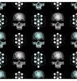 seamless pattern skull vector image