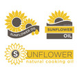 sunflower natural oil product label vector image