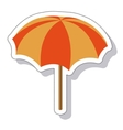 umbrella summer isolated icon vector image