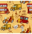 Vintage Transport Seamless vector image