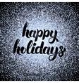 Happy Holidays Silver Design vector image