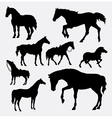 Horse animal gesture silhouette vector