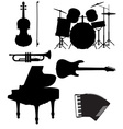 Set musical instruments 02 vector image
