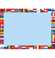 frame made of European flags vector image vector image