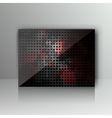 Card with abstract grunge metal background vector image