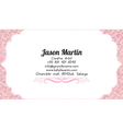Business woman business card vector image