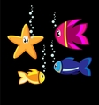 cartoon fishes vector image