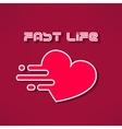 Heart fast life tshirt print design Heart vector image