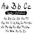 ABC - abc Funky Black Hand Written Alphabet Set vector image