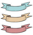 colored ribbon banner hand drawn sketch vector image