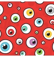 Eyes red seamless pattern vector image