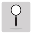 flat icon magnifying glass vector image
