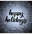 Happy Holidays Silver Design vector image