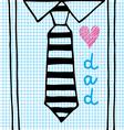 love dad necktie vector image