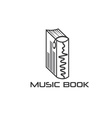 music book design template vector image