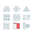 Set of line icons for DIY construction building vector image