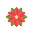 simple poinsettia icon flat design vector image