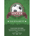 Soccer tournament background Design with soccer vector image