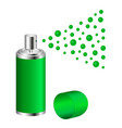 spray in green design vector image