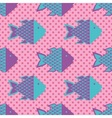 Funky fish pattern vector image