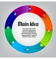 Concept of colorful circular banners afor vector image